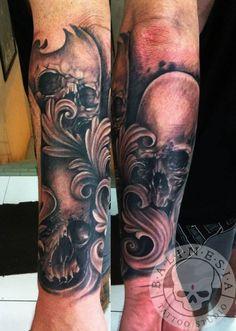 a6fa662c0 Art by Ibud Nyoman of Balinesia 2. Justyna Deryng · tattoo · Personal skulls