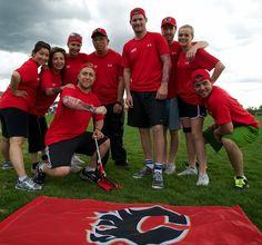 Calgary Flames take on Marathon of Sport