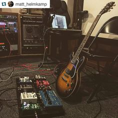 Follow @kw3hmd on Instagram: @Regrann from @xacttone -  Lots of good stuff going on here! #atomicoverdrive  #Repost @matt_helmkamp with @repostapp.  Good times yesterday tracking some songs for @ryan_franklin_booher. #wamplerpedals #xtspedals #newsongs #ES339 #Regrann