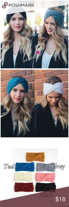 Twisted Style Crochet Headband Twisted Style knitted headband. Made of 100% acrylic. The perfect add on for fall/ winter! Available in grey, teal and black. You may choose the color when checking out. Don't forget to bundle and save! Bchic Accessories Hair Accessories