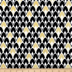 Nightfall Metallic Layered Sequins White from @fabricdotcom  Designed by Camelot Design Studio for Camelot Fabrics, this cotton print features gold metallic foil accents throughout and is perfect for quilting, apparel and home decor accents.  Colors include black, white and metallic gold.