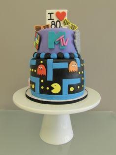 I Love the 80's cake