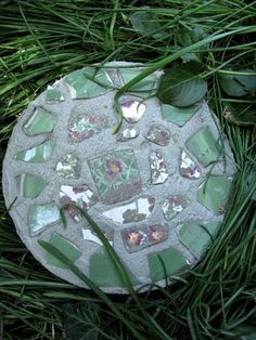 This blog has great photos showing the process of making stepping stones.