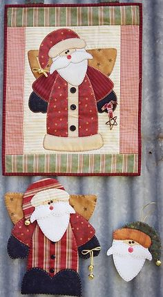 Papai noel painel - Santa wall hanging and ornaments