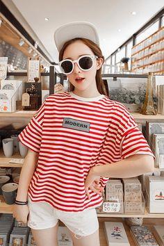 Nhập hàng Áo thun nữ kẻ sọc cánh dơi dễ thương giá tốt Xem thêm tại http://dathangtaobao.vn/ao-thun-nu-ke-soc-canh-doi-de-thuong/