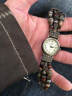 Vintage Peyote Bird Beaded Watch Santa Fe