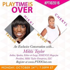 The @ptioconference conversation with @cherylempowers and @iammikkitaylor starts at 730pm EST! To join us register at www.ptiochat.com