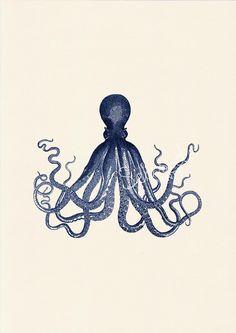 vintage octopus print