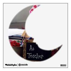 #1 Teacher Man On The Moon Wall Decal