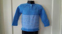Toddler Boy Handmade Blue Sweater. Size 18-24 Months. Free Shipping! #Handmade #Sweater #Everyday