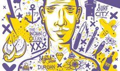 Durban is Yours Durban South Africa, Pretoria, Illustration Art, Illustrations, Continents, Van, Sculpture, Crafty, Purple