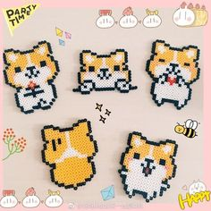 Perler Bead Templates, Diy Perler Beads, Perler Bead Art, Pearler Beads, Fuse Beads, Hama Beads Design, Hama Beads Patterns, Beading Patterns, Pixel Art