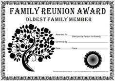 Reunion activities family reunion certificates hope tree 18 is family reunion certificates tree in bloom 18 is a free family reunion award by the thecheapjerseys Images