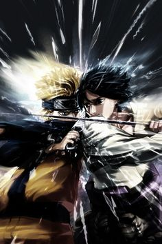 naruto vs sasuke. NARUTO. ANIME.  Pinned from Stephy Sama