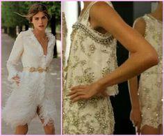 vestido de noiva curto bordado perola
