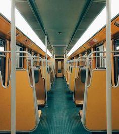 Metro train in Brussels