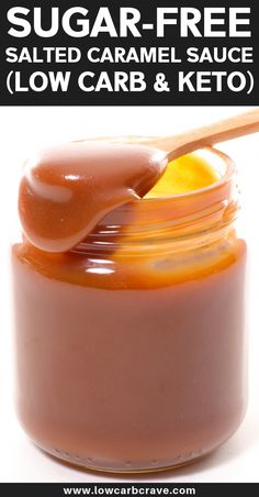 You won't believe you can eat this amazing salted caramel sauce while on a low carb/keto diet. This homemade sugar-free caramel sauce recipe is very low carb and high in fat. Keto Desserts, Sugar Free Desserts, Sugar Free Recipes, Low Carb Recipes, Holiday Desserts, Dessert Recipes, Cake Recipes, Keto Sauces, Keto Bbq Sauce