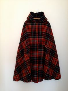 vintage plaid cape, $75.00