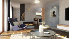 Nízkorozpočtový projekt domu bungalov na úzke pozemky Dining Table, Patio, Outdoor Decor, House, Furniture, Home Decor, Houses, Type 1, Homes