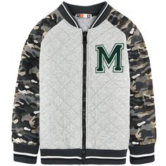 Boys bi-material Teddy jacket, MSGM at Melijoe.com.