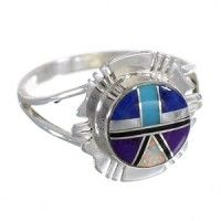 Multicolor Genuine Sterling Silver Southwest Ring Size 8 WX79968