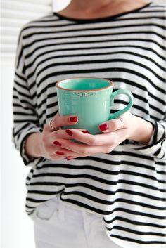 s a t u r d a y stripes and that mug