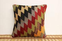 Kilim Pillow Decorative12 x 12 Throw Pillow by kilimwarehouse, $35.00