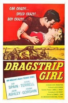 Dragstrip Girl Movie Poster Standup 4inx6in