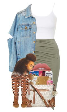 """Untitled #79"" by cre8tiive ❤ liked on Polyvore featuring Topshop, Lime Crime, MANGO and Michael Kors"