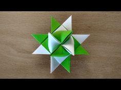 Fröbelsterne Anleitung - Einfachen Anfänger Fröbelstern basteln mit Papier. Weihnachtsstern falten - YouTube
