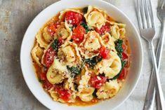 Recetas, recetas faciles, macarrones, espagueti, carbonara, ravioli, pasta carbonara, fetuccini, macarrones con queso, ravioles, fideo, tallarines, espaguetis a la carbonara, espaguetis carbonara, pasta al pesto, raviolis, espagueti a la boloñesa todo lo que debes conocer. Spinach Tortellini, Tortellini Recipes, Best Pasta Recipes, Chicken Recipes, Healthy Pastas, Easy Healthy Dinners, Healthy Dinner Recipes, Vegetarian Recipes, Cooking Recipes