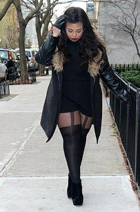 Try some thigh-highs or knee-highs. | 14 Amazing Styling Tips For Curvy Girls