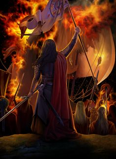 Thus at last the Teleri were overcome, and a great part of the mariners that dwelt in Aqualonde were wickedly slain. For the Noldor were become fierce and desperate, and the Teleri had less strength...then the Noldor drew away their white ships and manned their oars.