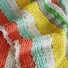 Citrus Stripe Blanket (Free Pattern)