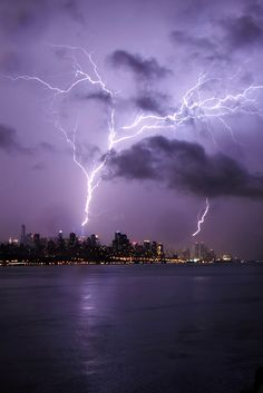 Lightning Strikes the Empire State Building and 1 WTC 5/23/14 Jason Pierce Photography