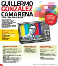 Con la #Infographic te presentamos algunos datos relevantes sobre el creador de la televisión a color, Guillermo González Camarena.