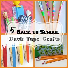 5 back to school duck tape crafts : Definitely going to make this a regular activity for night of respite!