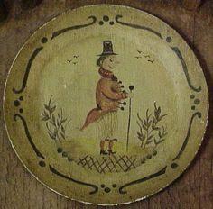 Peter Ompir for Sale | Peter Ompir Cape Cod Folk Art Tray - For Sale