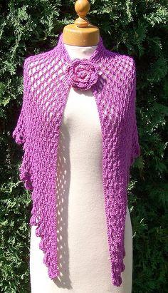 Crochet Rose Shawl