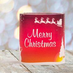 #Weihnachtsdeko #Christmas #Tischkarte #Windlicht Winterlandschaft: https://www.meine-hochzeitsdeko.de/windlicht-weihnachten-tischkarte-winterlandschaft