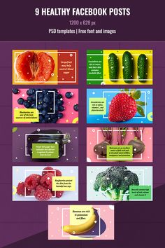 These templates can help you if you want to promote a healthy lifestyle idea or just give advice on healthy products. Layout Design, Website Design Layout, Web Banner Design, Print Layout, Menu Design, Ad Design, Presentation Design, Web Banners, Promotional Design
