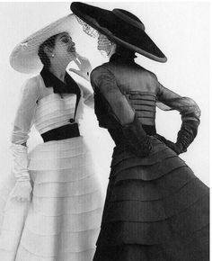 Model wearing fashion by Jacques Fath, 1952. Photo by Norman Parkinson.