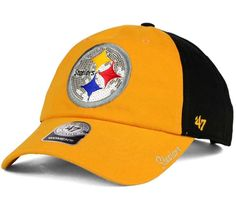 33fe4ab80 Pittsburgh Steelers '47 Brand Womens Sparkle 2-Tone Adjustable Strapback Cap  Hat #47Brand