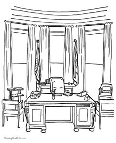 color picture of the white house All coloring pages Free