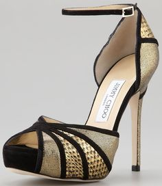 Jimmy Choo 'Kafta' Shimmer Snake Sandals