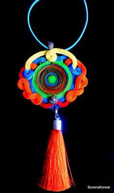 Soutache pendant by BozenaKorwatJewelry on Etsy