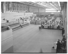 Interior, Willow Run Airport Terminal, February 1948