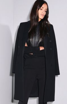 Gucci Pre-Fall 2014. Is that a black leather shirt she's wearing? :D
