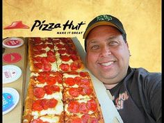 Pizza Hut® BIG Flavor Dipper Pizza REVIEW! Pizza Hut, Dipper, Food Reviews, The Dish, Tomato Sauce, Pepperoni, Food Videos, Oven, Baking