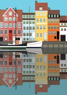Christianshavn, Copenhagen - illustration #Sivellink